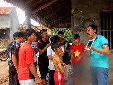 Participatory Video training for young Tay people in Khe Vap village Bac Lang commune, Dinh Lap district of Lang Son province